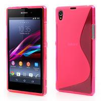Gelové S-line pouzdro na Sony Xperia Z1 C6903 L39- růžové - 1/5