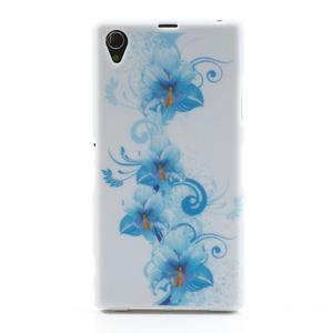 Gelové pouzdro na Sony Xperia Z1 C6903 L39- modrá lilie - 1