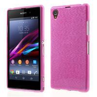 Kartáčované pouzdro na Sony Xperia Z1 C6903 L39- růžové - 1/6