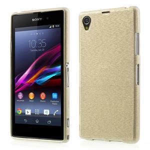 Kartáčované pouzdro na Sony Xperia Z1 C6903 L39- zlaté - 1