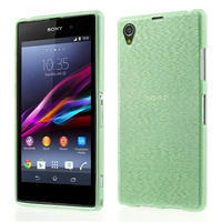 Kartáčované pouzdro na Sony Xperia Z1 C6903 L39- zelenmodré - 1/7