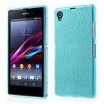 Kartáčované pouzdro na Sony Xperia Z1 C6903 L39- modré - 1/5