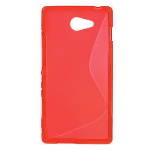Gelové S-line pouzdro na Sony Xperia M2 D2302- červené - 1