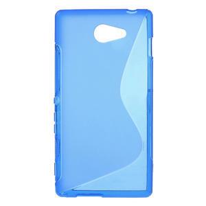 Gelové S-line pouzdro na Sony Xperia M2 D2302- modré - 1