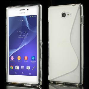 Gelové S-line pouzdro na Sony Xperia M2 D2302- transparentní - 1