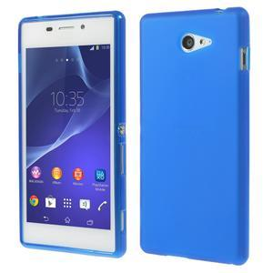 Gelové tenké pouzdro na Sony Xperia M2 D2302 - modré - 1
