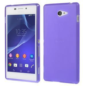 Gelové tenké pouzdro na Sony Xperia M2 D2302 - fialové - 1