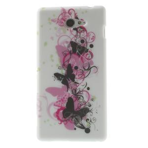 Gelové pouzdro na Sony Xperia M2 D2302 - motýlí květ - 1