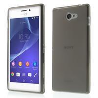 Gelové Ultraslim pouzdro na Sony Xperia M2 D2302- šedé - 1/7