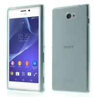 Gelové Ultraslim pouzdro na Sony Xperia M2 D2302- světlemodré - 1/6
