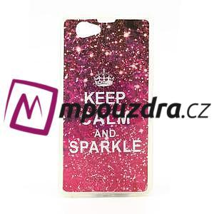 Gelové pouzdro na Sony Xperia Z1 Compact D5503 - Keep Calm and Sparkle - 1