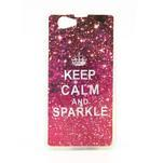Gelové pouzdro na Sony Xperia Z1 Compact D5503 - Keep Calm and Sparkle - 1/2