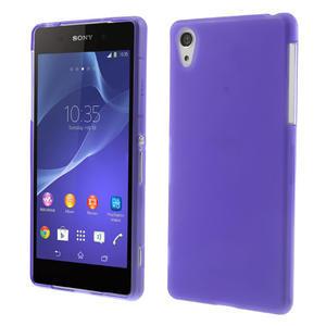 Gelové matné pouzdro na Sony Xperia Z2 D6503- fialové - 1