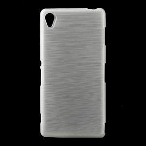 Gelové kartáčové pouzdro na Sony Xperia Z3 D6603 - bílé - 1