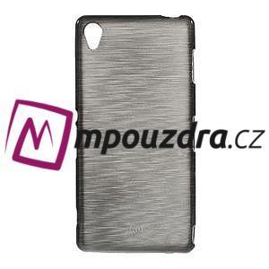 Gelové kartáčové pouzdro na Sony Xperia Z3 D6603 - šedé - 1