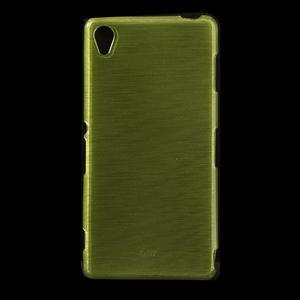 Gelové kartáčové pouzdro na Sony Xperia Z3 D6603 - zelené - 1