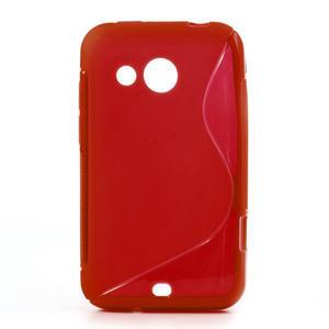 Gelové S-line pouzdro pro HTC Desire 200- červené - 1