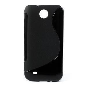 Gelové S-line pouzdro pro HTC Desire 300 Zara mini- černé - 1