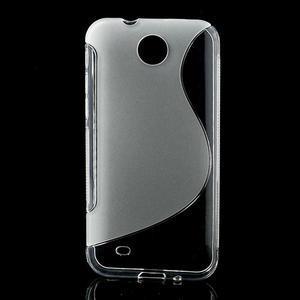 Gelové S-line pouzdro pro HTC Desire 300 Zara mini- transparentní - 1