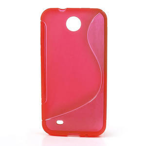 Gelové S-line pouzdro pro HTC Desire 300 Zara mini- červené - 1