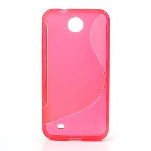 Gelové S-line pouzdro pro HTC Desire 300 Zara mini- růžové - 1
