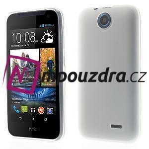 Gelové pouzdro na HTC Desire 310- bílé - 1