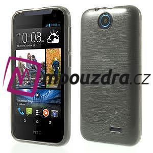 Gelové kartáčované pouzdro na HTC Desire 310- šedé - 1