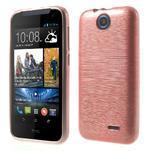 Gelové kartáčované pouzdro na HTC Desire 310- světlerůžové - 1/6