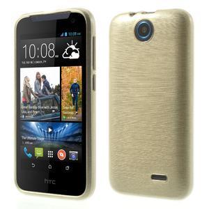 Gelové kartáčované pouzdro na HTC Desire 310- zlaté - 1