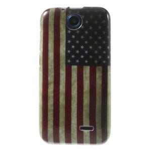 Gelové pouzdro na HTC Desire 310- USA vlajka - 1