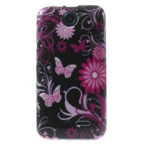 Gelové pouzdro na HTC Desire 310- motýlci - 1