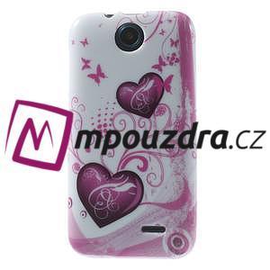 Gelové pouzdro na HTC Desire 310- dvě srdce - 1