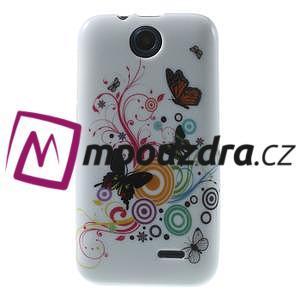 Gelové pouzdro na HTC Desire 310- barevné motýlci - 1