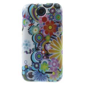 Gelové pouzdro na HTC Desire 310- barevné květy - 1