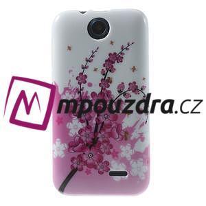 Gelové pouzdro na HTC Desire 310- kvetoucí větvička - 1