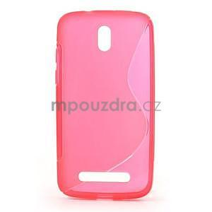 Gelové pouzdro pro HTC Desire 500- růžové - 1