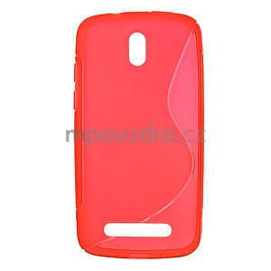 Gelové pouzdro pro HTC Desire 500- červené - 1