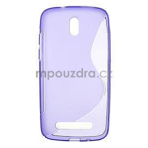 Gelové pouzdro pro HTC Desire 500- fialové - 1