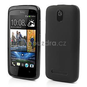Gelové matné pouzdro pro HTC Desire 500- černé - 1