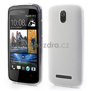 Gelové matné pouzdro pro HTC Desire 500- bílé - 1