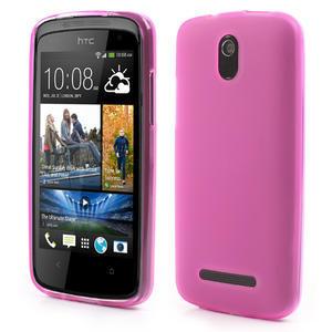 Gelové matné pouzdro pro HTC Desire 500- růžové - 1