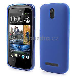 Gelové matné pouzdro pro HTC Desire 500- modré - 1