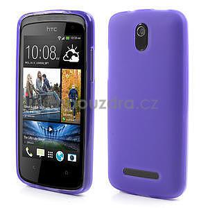 Gelové matné pouzdro pro HTC Desire 500- fialové - 1