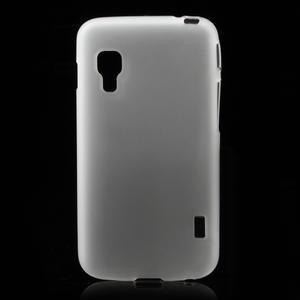 Matné gelové pouzdro pro LG Optimus L5 Dual E455- bílé - 1