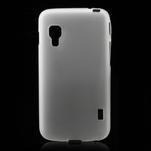 Matné gelové pouzdro pro LG Optimus L5 Dual E455- bílé - 1/4