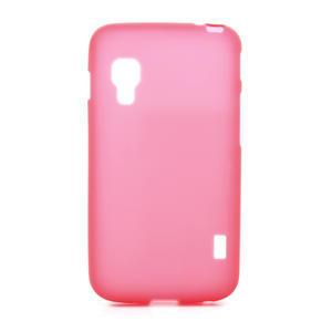 Matné gelové pouzdro pro LG Optimus L5 Dual E455- červené - 1