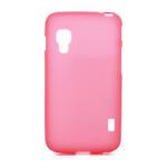 Matné gelové pouzdro pro LG Optimus L5 Dual E455- červené - 1/4