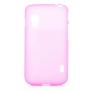 Matné gelové pouzdro pro LG Optimus L5 Dual E455- růžové - 1