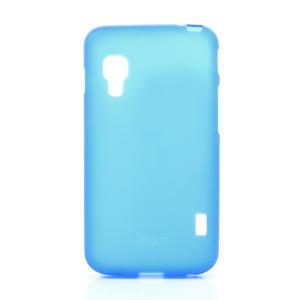 Matné gelové pouzdro pro LG Optimus L5 Dual E455- modré - 1