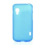 Matné gelové pouzdro pro LG Optimus L5 Dual E455- modré - 1/4